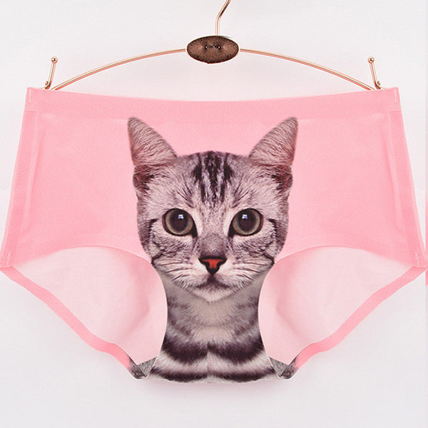 My Crazy Cat Seamless Panties - One Cool Gift  - 3