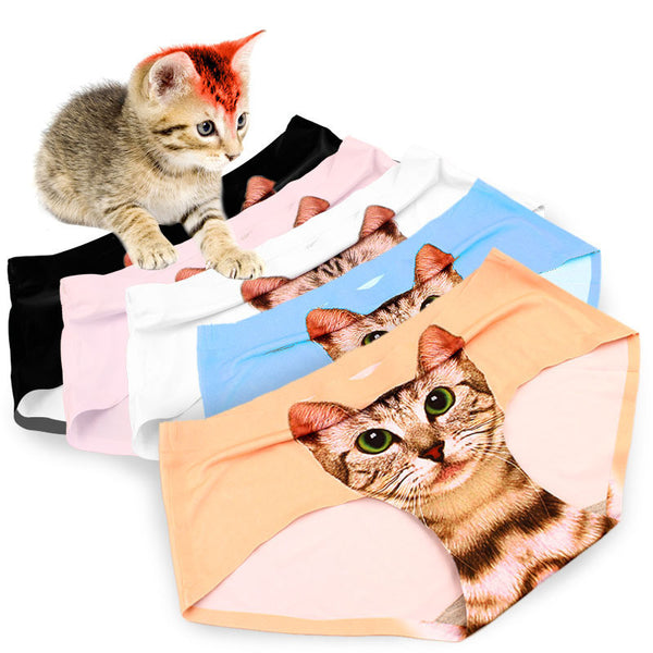 My Crazy Cat Seamless Panties - One Cool Gift  - 1