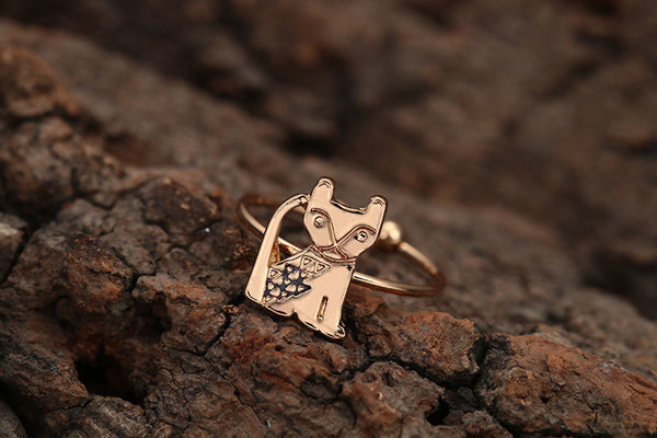 Sit With Me Cat Ring