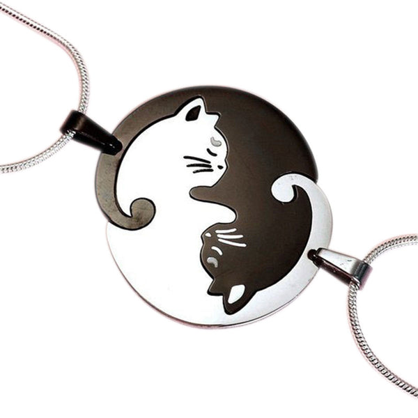 Cat Lovers BFF Necklace Set