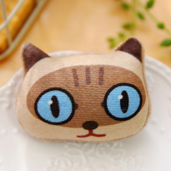 Super Cute Handmade Cat Brooches Set of 3