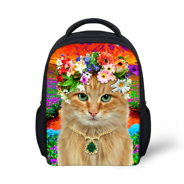 Pretty Floral Cat Backpack