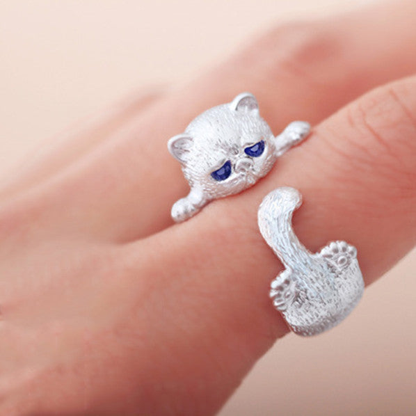 Hug Me Please Silver Ring