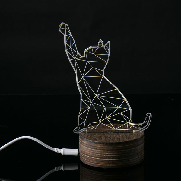 """My Cat Needs Attention"" LED Decoration Lamp"
