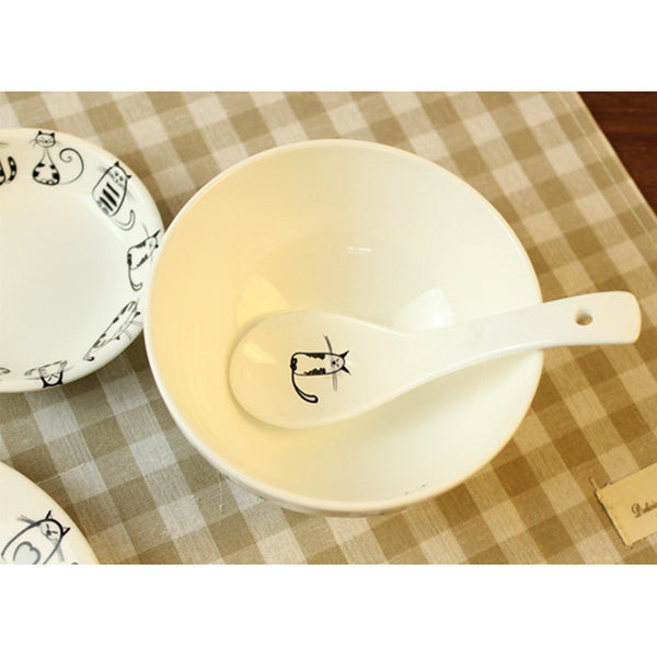 Crazy Cat Bowl & Spoon Set