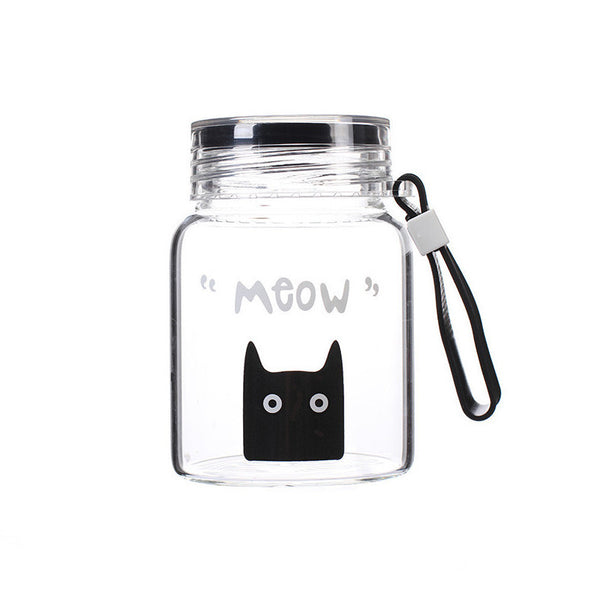 Bring Kitty Home Glass Mug with Lid