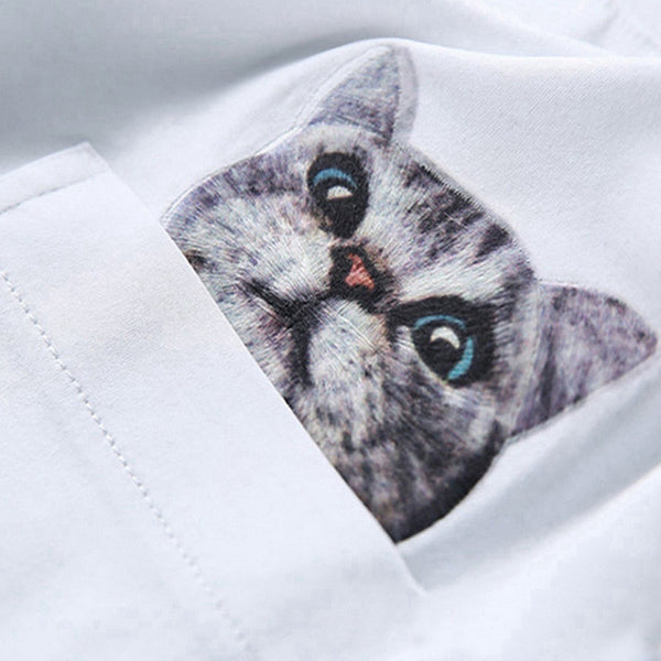 Cat In My Pocket Tee