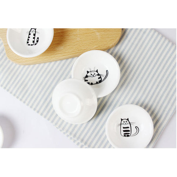 Meow Meow Porcelain Small Saucer Set
