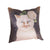 Floral Cat Artwork Cushion