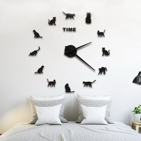 Time Spent with Cats is Never Wasted DIY Clock