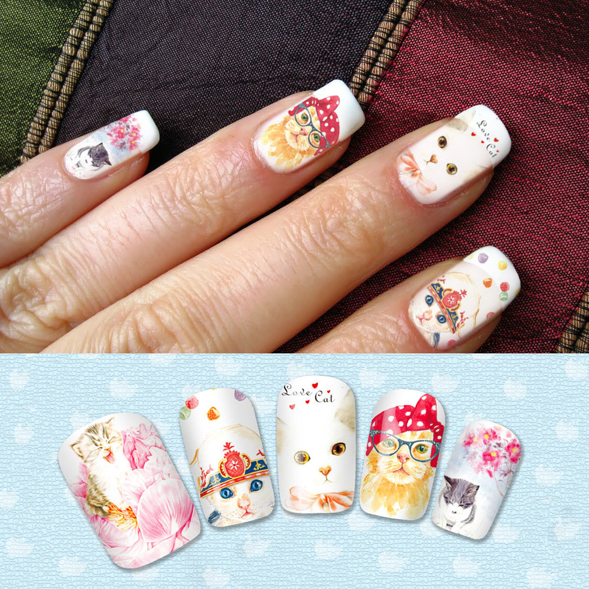 Cat Lover Nail Art Decals - One Cool Gift - 1 - Get Cat Lover Nail Art Decals At Best Cat Gift Store, Crazycatshop