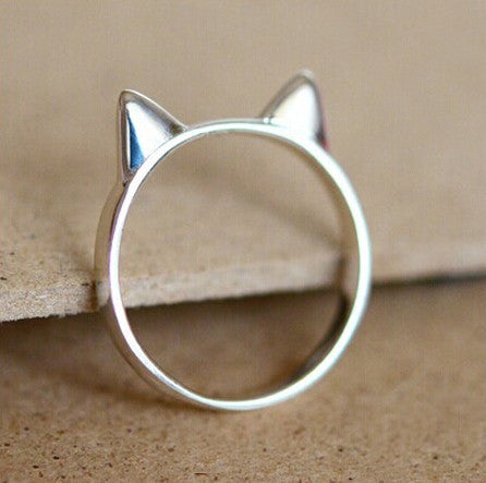 Mysterious Cat Ears 925 Sterling Silver Ring - One Cool Gift  - 1