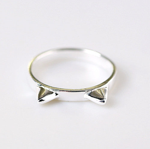 Mysterious Cat Ears 925 Sterling Silver Ring - One Cool Gift  - 2