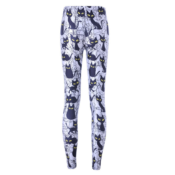 69e68b5af6a37 Get Black Cats Print Leggings With Best Cat Gift Store, Crazycatshop
