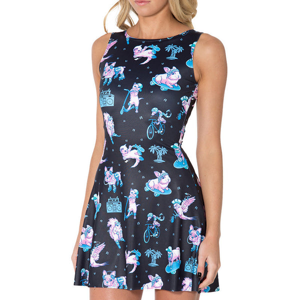 Hipster Cat & Friends Skater Dress - FREE SHIPPING