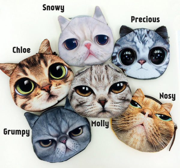 Crazy Cat Lover Coin Purse Collection - Limited Time Buy One Get Two Free! - One Cool Gift  - 2