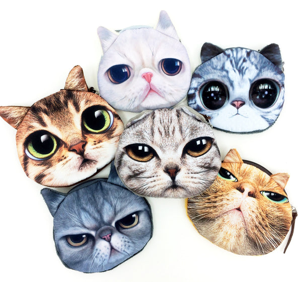 Crazy Cat Lover Coin Purse Collection - Limited Time Buy One Get Two Free! - One Cool Gift  - 1
