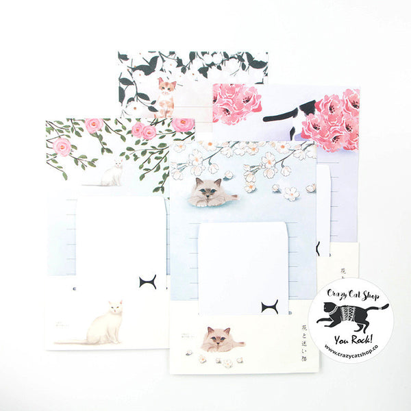 Japanese Art Cat Letter Set