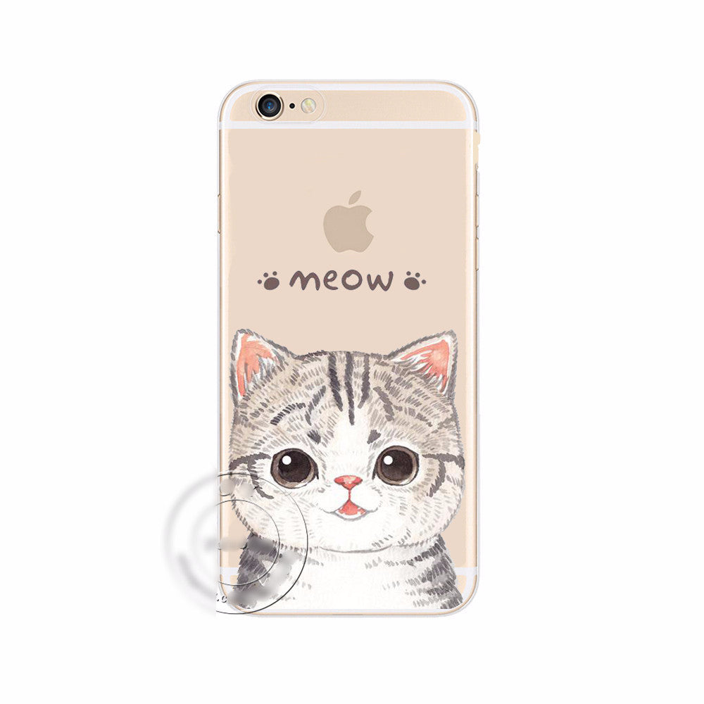 the best attitude 40cb3 542e1 My Chubby Cat Clear Phone Case
