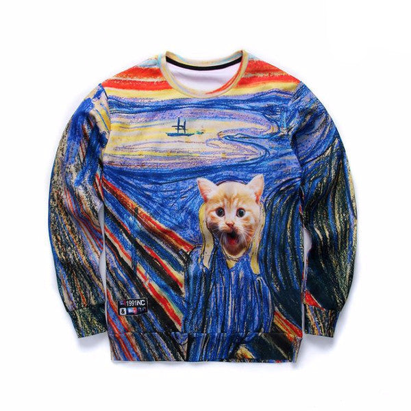 The Scream Cat Sweatshirt