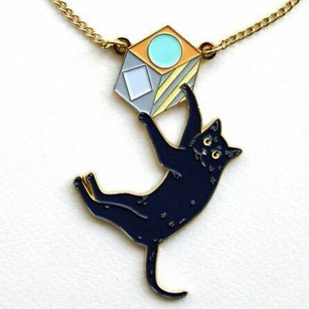 The Cat & The Box Necklace