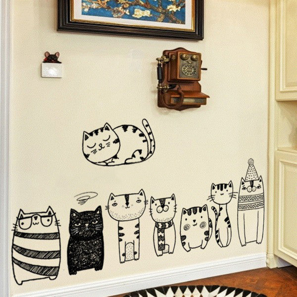 House Of Cats Wall Paper