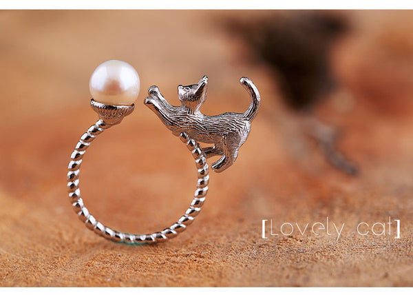 Play With Me Kitty Ring