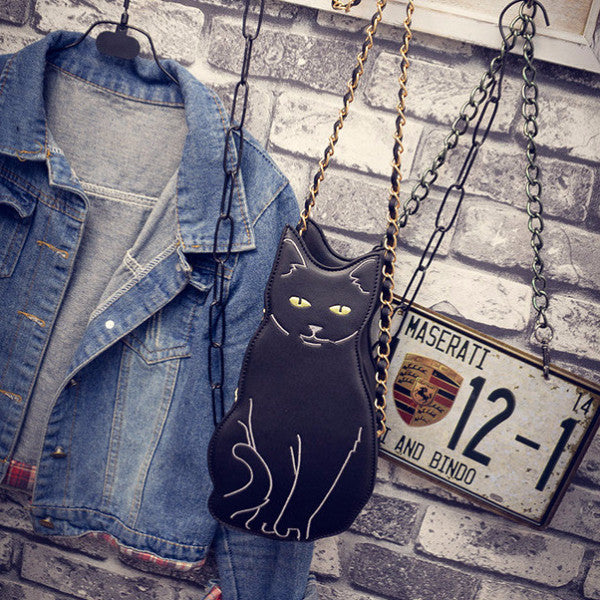 I Heart Black Cat Bag