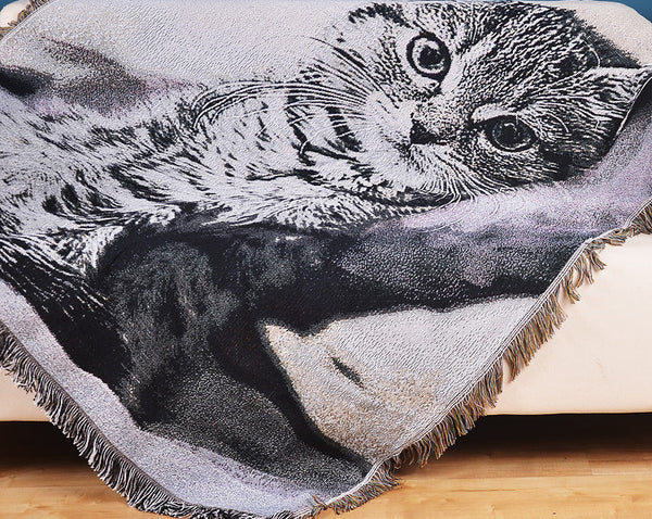 My Cat Large Decorative Blanket