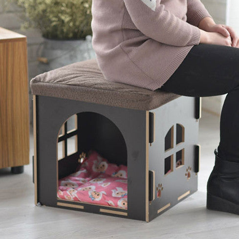My Lil' Kitty Pet House And Stool