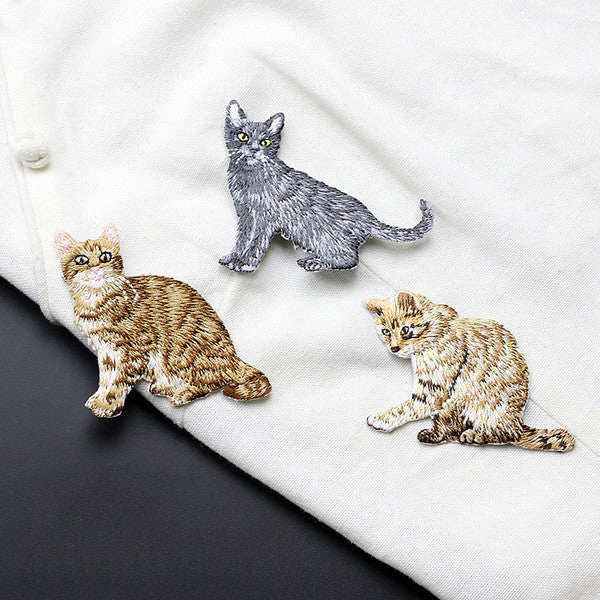 Bonding With Kitten Iron On Embroidery