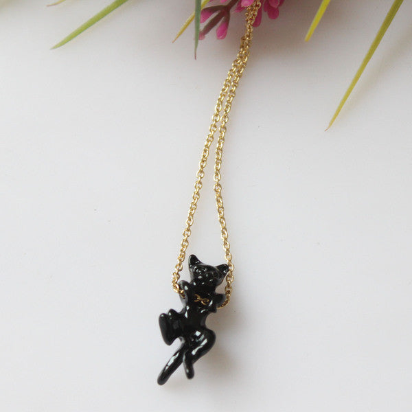 Let's Hang Out Cat Necklace