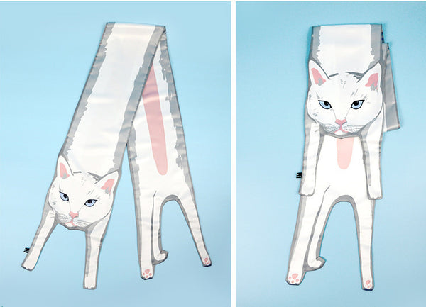 You're Mine White Cat Exclusive Design Scarf