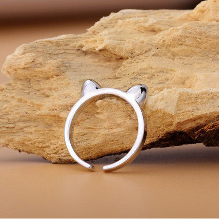 My Pretty Cat Ears 925 Sterling Silver Ring - Free Giveaway - One Cool Gift  - 2