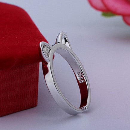 My Pretty Cat Ears 925 Sterling Silver Ring - Free Giveaway - One Cool Gift  - 4