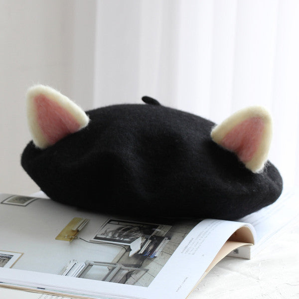 The Cat Ears Wool Beret