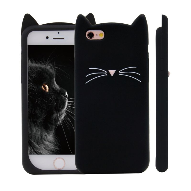 new styles a4921 0131c I Love Black Cat Protective Phone Case