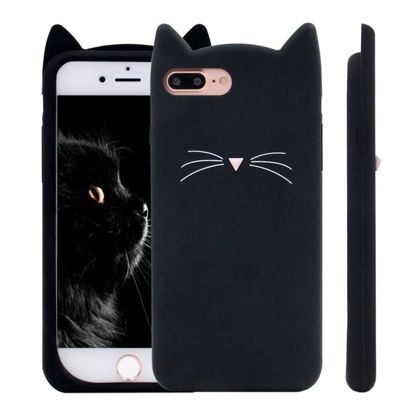 I Love Black Cat Protective Phone Case