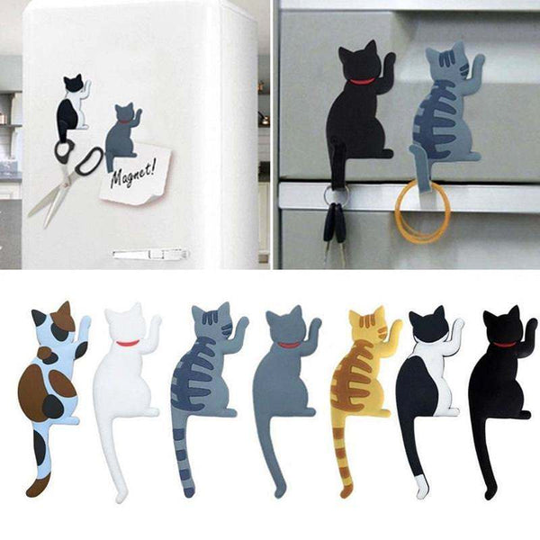 Crazy Cat Fridge Magnet With Hook