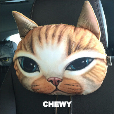 Crazy Cat Pillows For Car