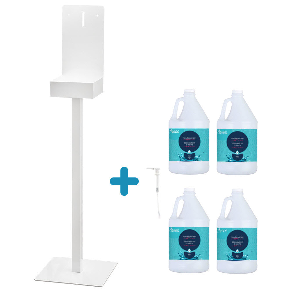 COMBO Display stand + 4 bottles of 3.78L disinfectant gel + Dispensing pump