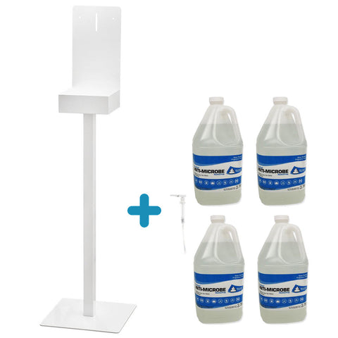 COMBO Display stand + 4 bottles of 3,78L foaming hand sanitizer + Dispensing pump
