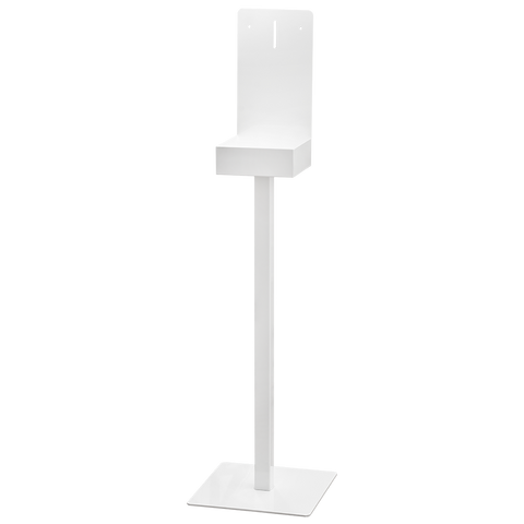 Metal display stand for disinfectant