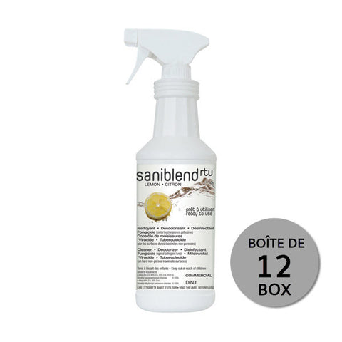 "Saniblend Cleaner & Disinfectant ""Ready to use"" - 12 x 950ml box"