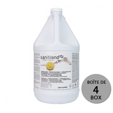 "Saniblend Cleaner & Disinfectant ""Ready to use"" - 4 x 4L box"