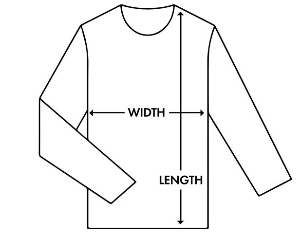Just Print Co Size Diagram Hoodie