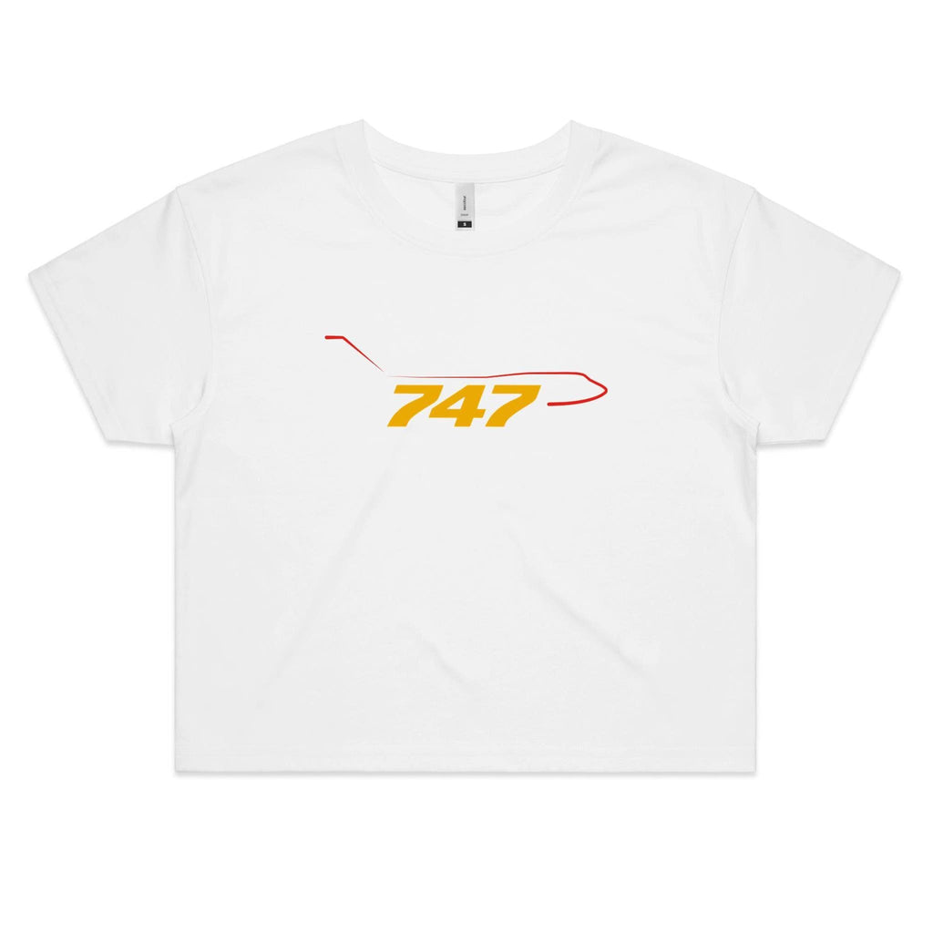 The 747 - Women's Crop Tee - Just Print Co