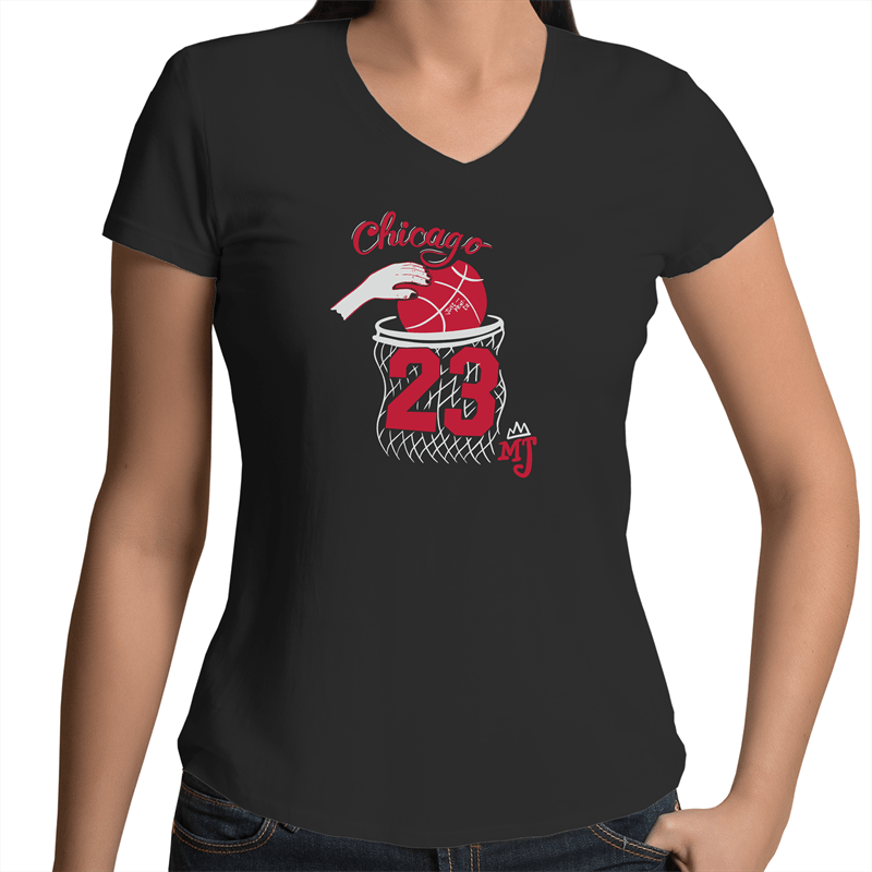 The Bulls - Women's V-Neck Tee - Just Print Co