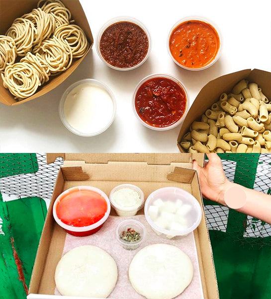 DIY Pasta/Sauce and Pizza For 4