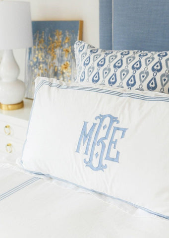 Matouk Bel Tempo Monogrammed Pillows